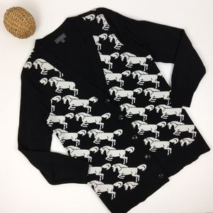 The Limited Horse Pattern Cardigan Size Medium